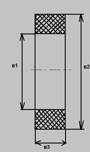 Кольцо прямоугольного профиля